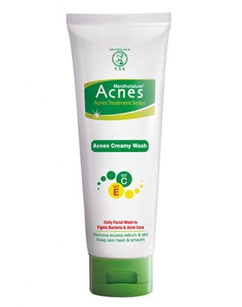 Sabun wajah bagus untuk kulit berjerawat - Acnes Creamy Wash