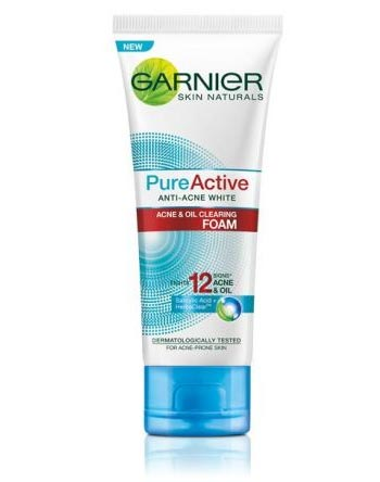 Sabun wajah bagus untuk kulit berjerawat - Garnier Pure Active Acne & Oil Clearing Foam