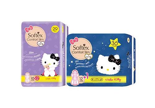 Merek pembalut wanita bagus - Softex Slim Comfort Hello Kitty Edition
