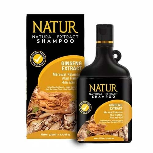 Shampo rambut rontok - Natur Natural Extract Shampoo with Ginseng Extract
