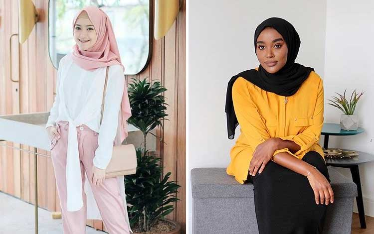 tips mix and match hijab terkini