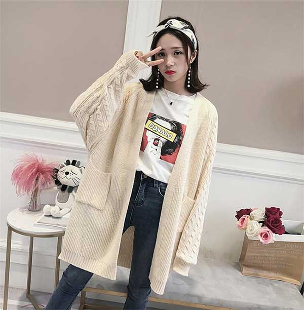 Trend fashion korea - over sized cardigan