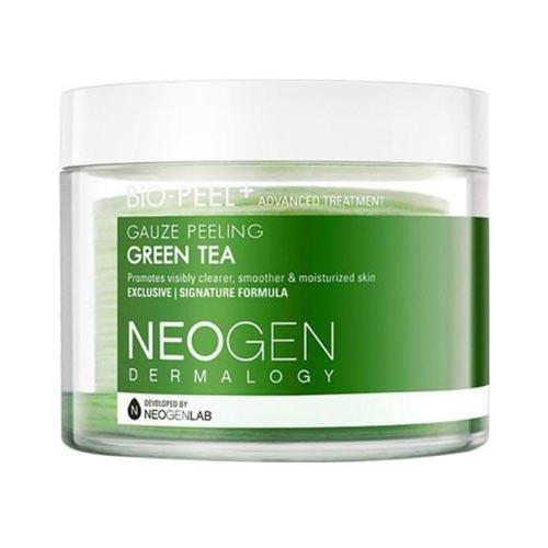 Face mask dan face scrub untuk kulit sensitif dan berjerawat - Neogen Bio-Peel Gauze Peeling Green Tea