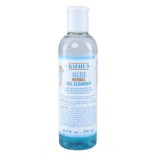 Sabun muka untuk kulit sensitif dan berjerawat - Kiehl's Blue Herbal Gel Cleanser