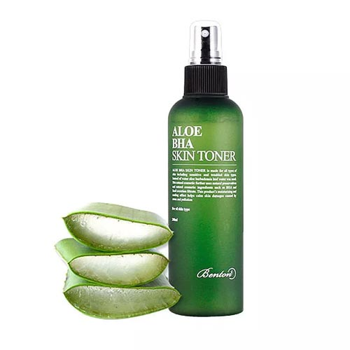 Toner untuk kulit sensitif dan berjerawat - Benton Aloe BHA Skin Toner