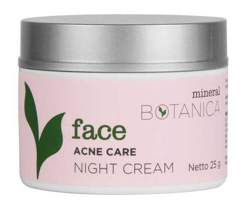 Krim penghilang jerawat - Mineral Botanica Face Acne Care Night Cream