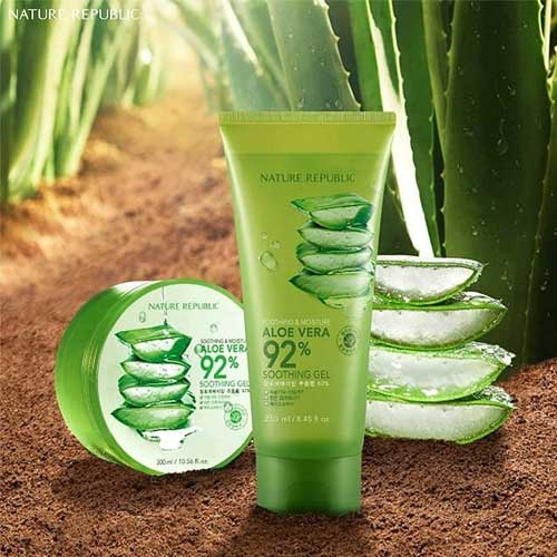 Krim penghilang jerawat - Nature Republic Aloe Vera Soothing Gel