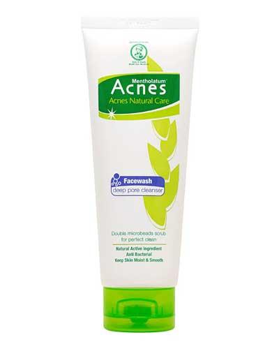 Sabun wajah bagus penghilang komedo - Acnes Natural Care Facewash Deep Pore Cleanser