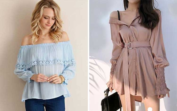 Fashion style kekinian anak muda dengan off shoulder top