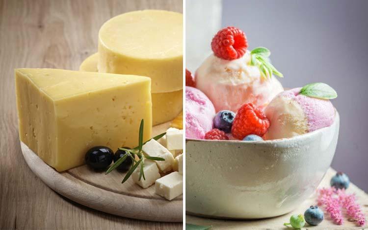 Makanan olahan susu yang perlu dihindari jika berjerawat - Keju, Ice Cream