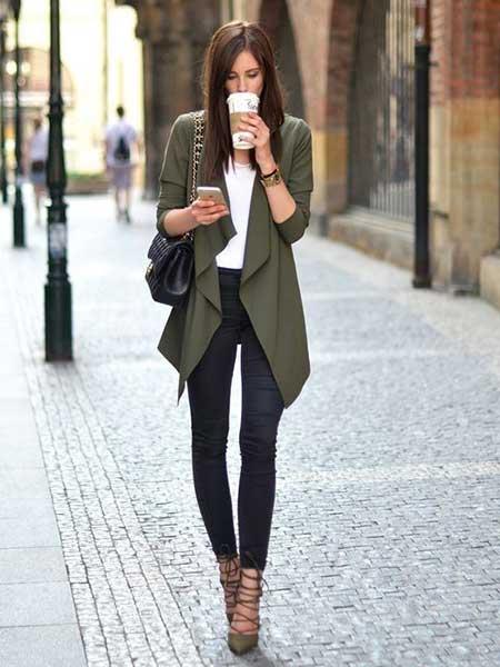 Inspirasi blazer wanita - draped blazer