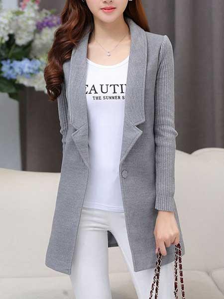 Inspirasi blazer wanita - lapel longline blazer