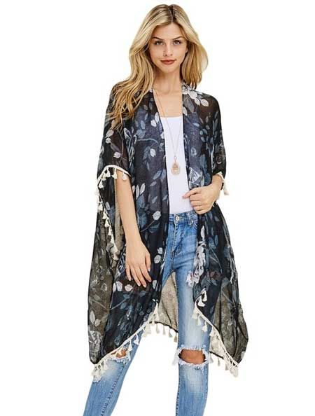Jenis Cardigan - Kimono Cardigan