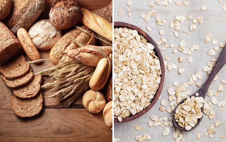 Makanan yang bagus untuk kulit berjerawat - gandum, oat