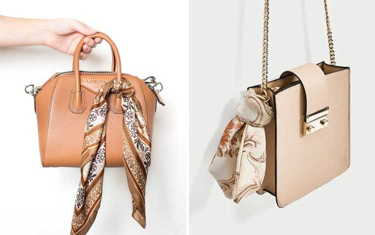 Aksesoris wanita - Scarf on Bag