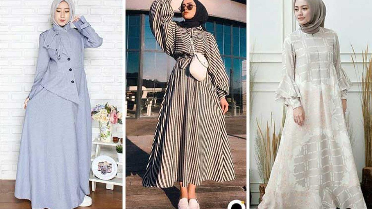 11 Model Baju Gamis Modern dan Kekinian (Update) - Hai Gadis
