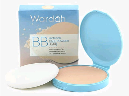 Bedak Wardah Lightening BB Cake Powder