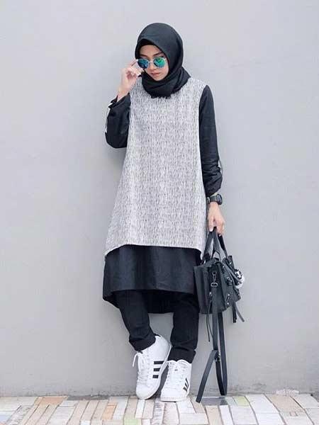 OOTD hijab dengan tunik