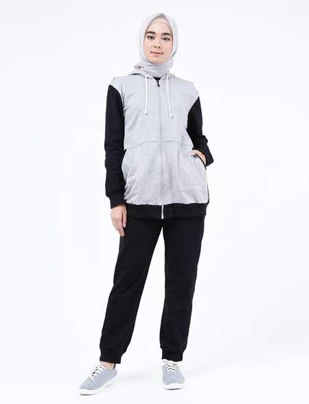 OOTD hijab dengan hoodie jumper