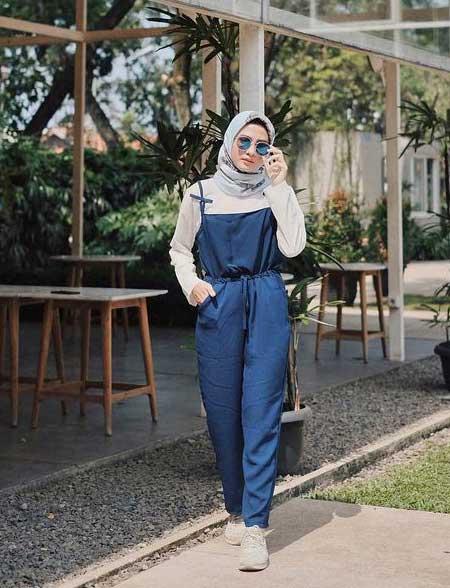 OOTD hijab dengan jumpsuit
