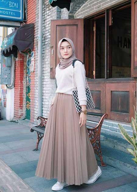 OOTD hijab terbaik simple dan mudah