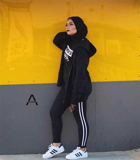 Outfit olahraga muslimah untuk hijaber