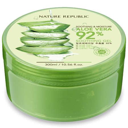 Pelembab wajah untuk kulit berminyak - Nature Republic Soothing & Moisture Aloe Vera Gel