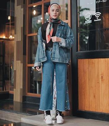OOTD jaket jeans hijab