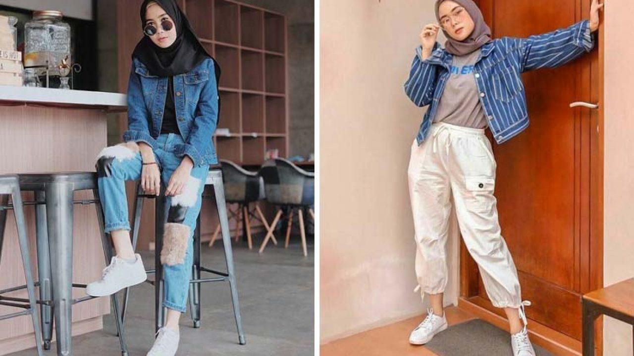 Inspirasi Style Jaket Jeans Dengan Hijab Kekinian Buat Para Hijaber