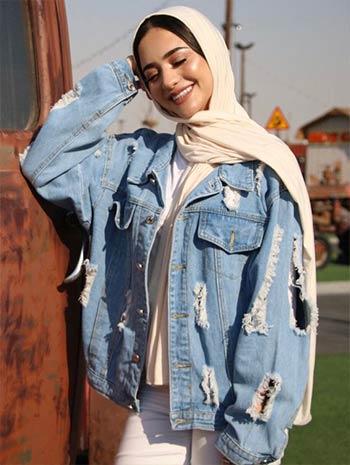 style jaket jeans wanita hijab kekinian
