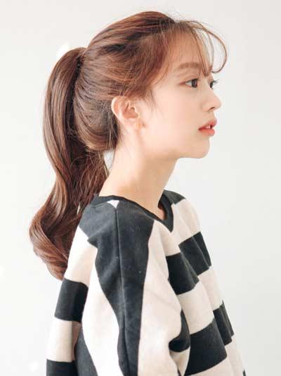 Gaya Rambut Ala Korea - Ponytail