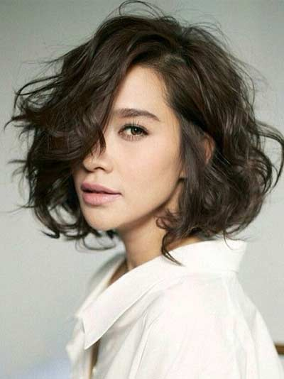 Gaya Rambut Ala Korea - Wavy Short
