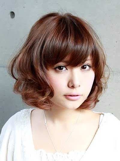 Gaya Rambut Ala Korea - Short Curly with Bangs