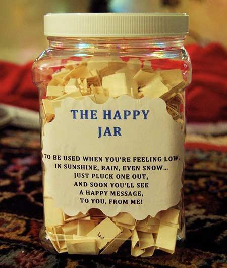 Hadiah valentine happy jar