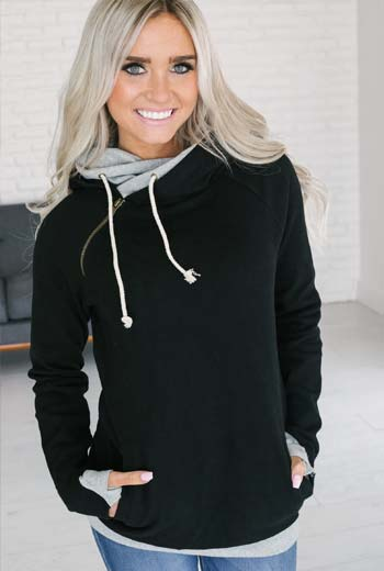 Jaket hoodie wanita
