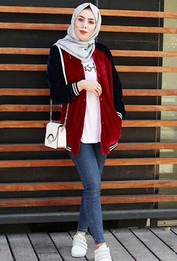 Jaket varsity wanita hijab
