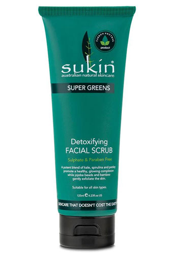 Merek Facial Scrub Terbaik - Sukin Detoxifying Facial Scrub Super Greens