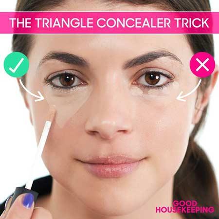 Tips make up natural - aplikasikan concealer