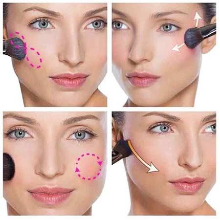 Tips make up natural - gunakan blush on