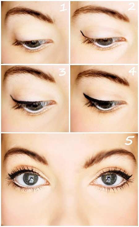 Tips make up natural - gunakan eye liner