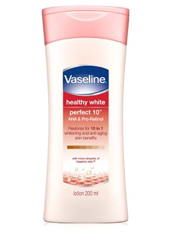 Body lotion terbaik untuk memutihkan kulit - Vaseline Healthy White Perfect 10