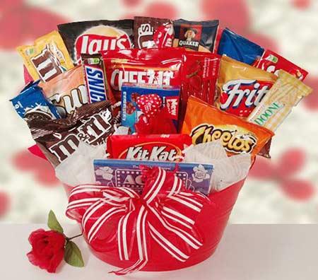 Hadiah valentine buket snack