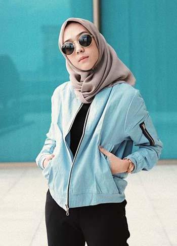 Jaket bomber wanita hijab