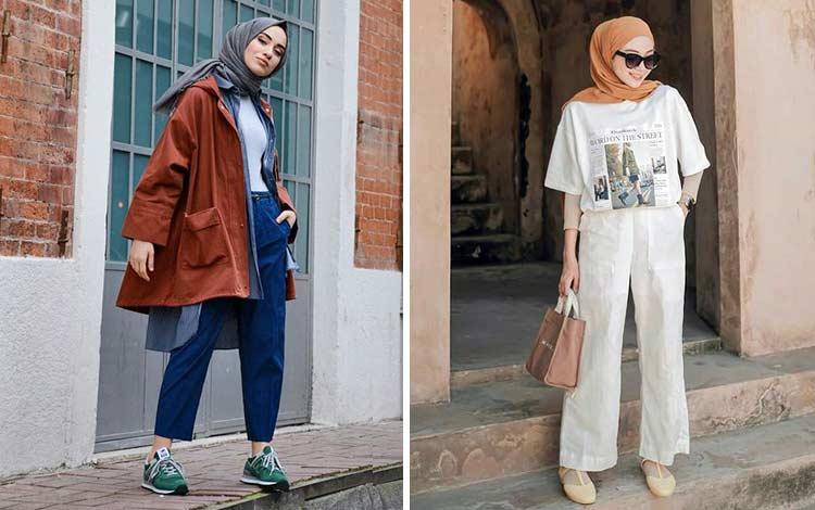 14 Inspirasi Style Hijab Casual Untuk Outfit Sehari-hari