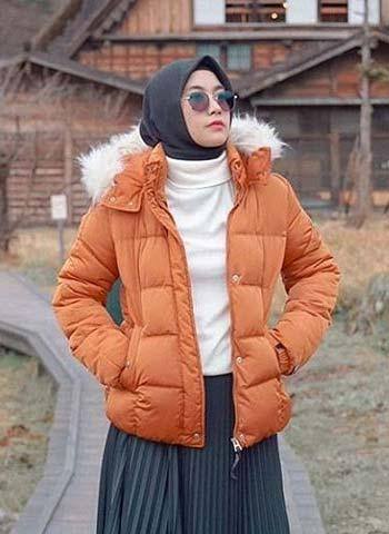 Warm winter jacket hijab