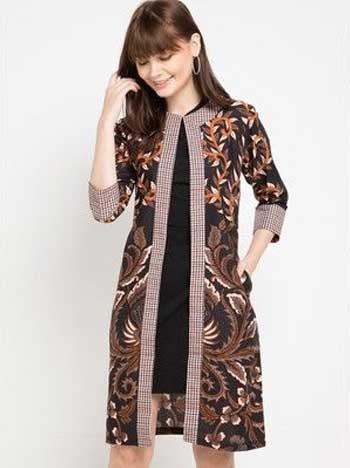 Model Baju Batik Leher V / Jual Blouse Atasan Top Baju ...