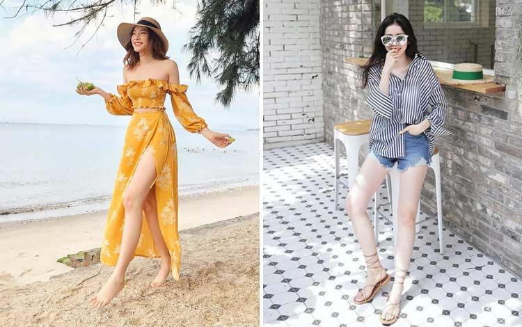 14 OOTD Ke Pantai Untuk Wanita Yang Simple dan Kece