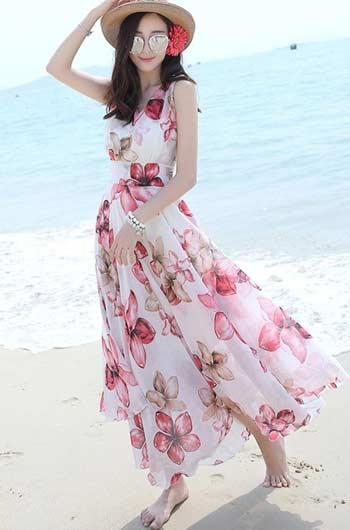 OOTD pantai wanita
