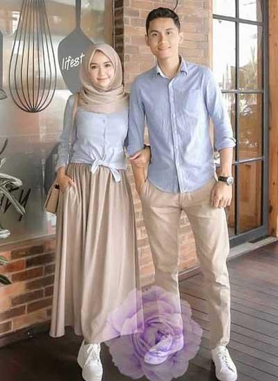 Baju couple muslim casual
