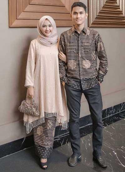 Baju couple muslim batik